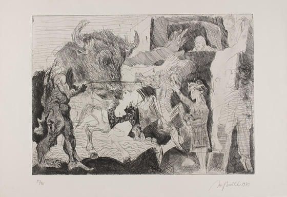 Alfred Hrdlicka, Tauromachie (Hommage à Picasso II)